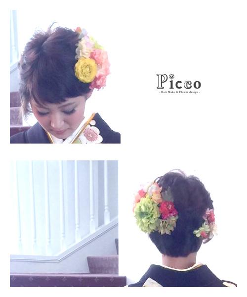 お客様からの髪飾り着用写真