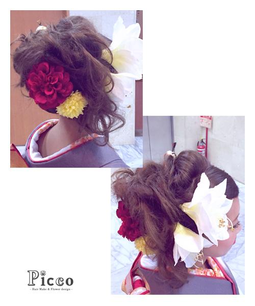 髪飾り着用写真